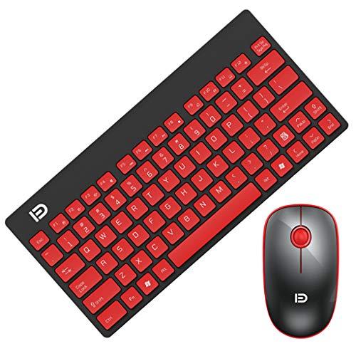 Tensay Wireless Tastatur und Maus Set, 2.4G Kabellose Dünne Drahtlose Tastatur mit Funkmaus Kombi Combo für MAC Windows Linux -
