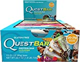 Quest Nutrition Protein Bar, Popular Flavors Variety Pack, 12 Flavors, 20-21g Protein, 2.12oz Bar, 12 Count