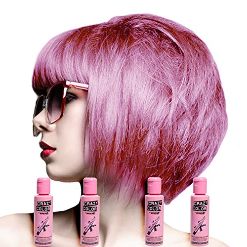 Crazy Color Semi-Permanent Hair Dye 4 Pack (Marshmallow) -
