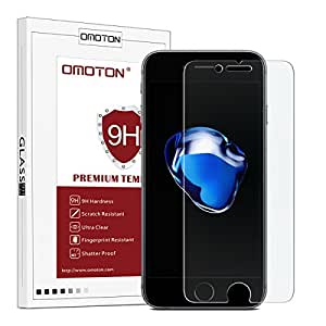 OMOTON iPhone 7 Screen Protector- Tempered Glass Screen Protector for Apple iPhone 7 / iPhone 6 / 6s 4.7 Inch [9H Hardness] [Premium Clarity] [Scratch-Resistant],