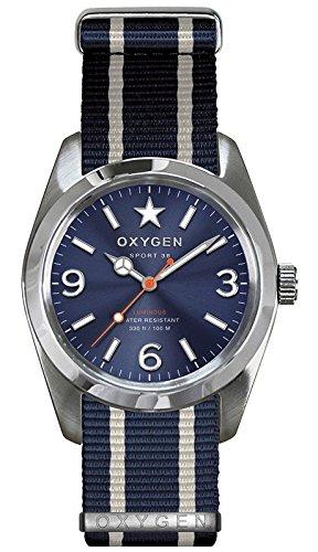 OXYGEN EX-S-BOS-38-NN-NAIVNA - Reloj de pulsera unisex, nailon, color azul