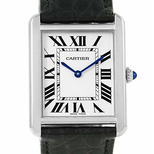 Cartier Tanque Solo Cuarzo Mens Reloj w1018355(Certificado) de Segunda Mano