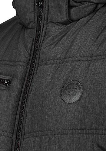 BLEND Boris Herren Winterjacke Jacke mit Stehkragen und abnehmbarer gefütterter Kapuze mit optionalem Teddy-Futter aus hochwertiger Materialqualität Black (70155)
