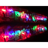 Flashing Red Happy Birthday banner Free delivery