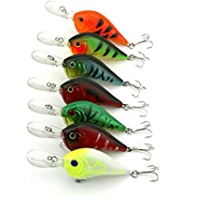 "LENPABY 7pcs Deep Diving Crankbait Señuelos de pesca para Pike & Bass y Salmón Walleye 9.5cm / 3.34 ""/11.2g"
