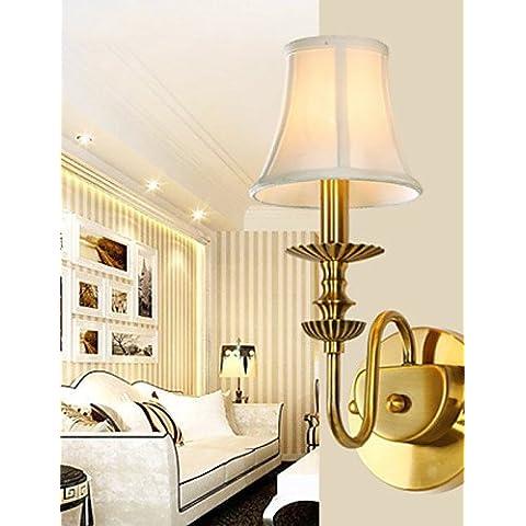 Habitación Classic CNMKLM, lámparas de pared metálica sencilla Candelabro de Pared de Salón Bar Cafetería Balcón Pasillo Lampara de pared ,