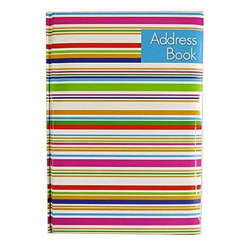 A5 Stilvoll, Weich, A-Z Adressbuch - Streifen