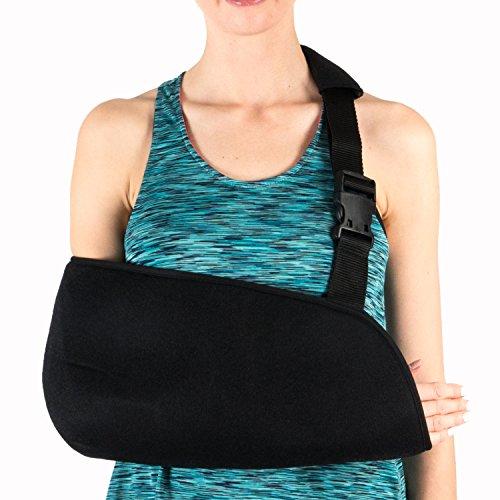 Schulter-maschine (SolesUniversalArmschlinge mit weich gepolstertem Schultergurt(Erwachsener) - Atmungsaktiv, Comfort Fit mit verbesserter Ellbogen Schutz und Stabilität - Reduzieren Sie den Schmerz von Verletzungen & Boost Wiederherstellungsgeschwindigkeit - Unisex)