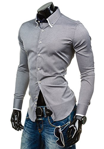 BOLF - Chemise casual – manches longues – GLO STORY 9663 - Homme Noir
