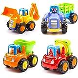 Toys Unbreakable Engineering Automobile Construction Car Machine Toys Set - Multi Color (Set Of 4)