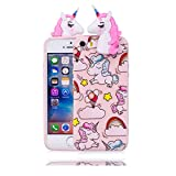 rose case Licorne Rainbow ) iPhone 5 5S SE 5C Coque, Fit TPU peau de finition coque...