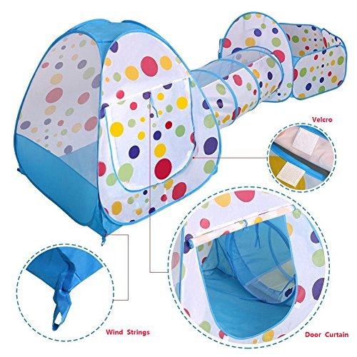 TRGFHHRF 3-in-1 Faltbare Indoor Outdoor-Tunnelzelte für Jungen, Mädchen, Babys und Kleinkinder, geeignet für Hinterhof-Garten-Schlafzimmer