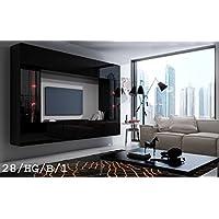 HomeDirectLTD Future 28 Moderne Wohnwand, Exklusive Mediamöbel, TV Schrank,  Schrankwand, TV