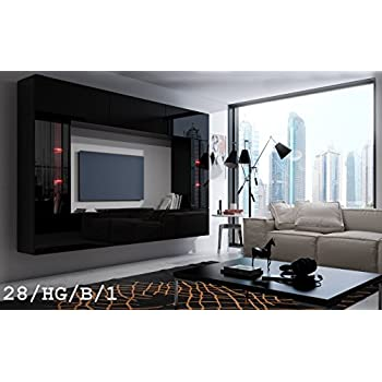 future 28 moderne wohnwand exklusive mediam bel tv schrank schrankwand tv element anbauwand. Black Bedroom Furniture Sets. Home Design Ideas