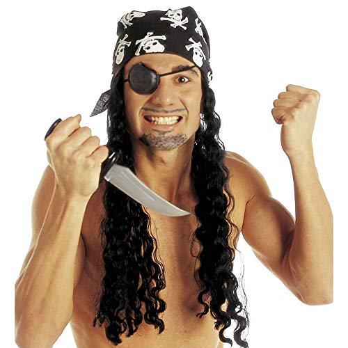 Widmann 6054P - Perücke Pirat mit Kopftuch und Augenklappe
