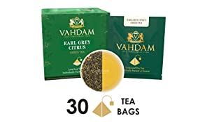 Earl Grey Citrus Green Tea 15 Tea Bag (Pack of 2), Long Leaf Pyramid Green Tea Bags 100% Healthy Green Tea, Complete Detox, Handpicked Natural Ingredients- Citrus, Bergamot