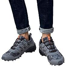 Zapatos de hombre JiaMeng Moda Hombres Zapatillas Estilo Hombres Casual Botas Resistentes al Deslizamiento Senderismo Botas
