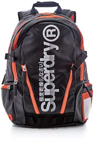 Superdry Hombre Sonic Tarp Mochila Multicolor Multicolore (Black/Orange)