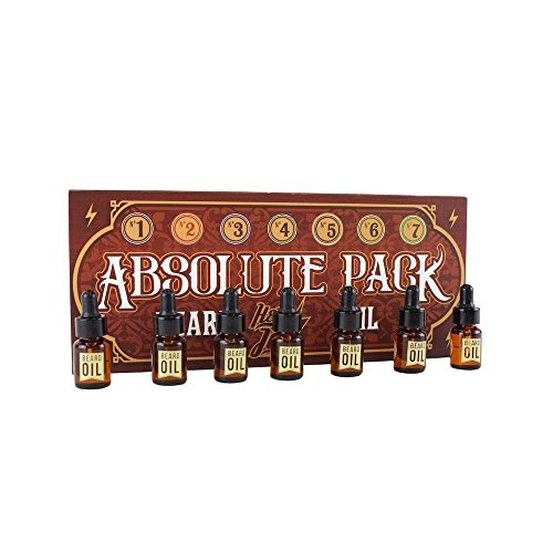HEY JOE - Absolute Pack Beard Oil, 7 x 3ml | Selección de nuestros 7 aceites para barba en formato cristal 3ml