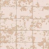 Papier peint à carreaux métallisé Blush / Rose Gold Muriva L62603