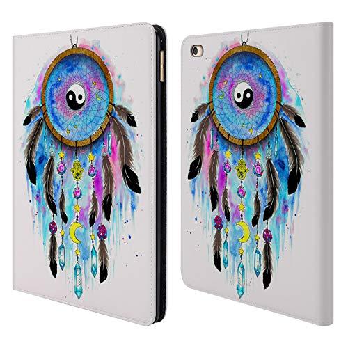 Head Case Designs Offizielle Pixie Cold Yin Und Yang Schädel Und Traumfänger Brieftasche Handyhülle aus Leder für iPad Air 2 (2014) (Cellular Air 64 Ipad 2)