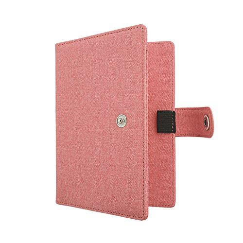 Moko porta passaporto rfid blocking, portafoglio custodia multiuso da viaggio in pelle pu, per documenti, carta di credito, tessere, con tecnologia rfid anti-furto, rossa