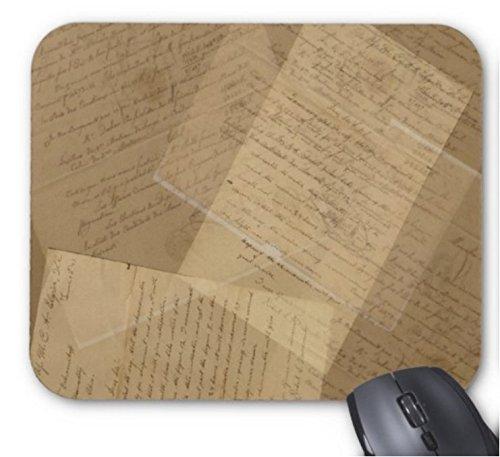 Gaming Mouse Pad Vintage antike Buchstaben Collage Design für Desktop und Laptop 1 Packung 30x25cm / 11.8x9.8in