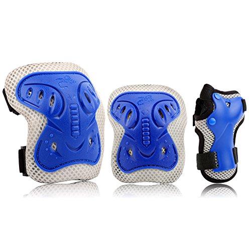 BROTOU Protecciones de Patinaje Niños,Equipo de Protección,Protecciones de Patinaje Coderas y Rodilleras para Rodillo Patinar Bicicleta BMX Monopatín Aeropatín Actividades al Aire Libre(ajustable)