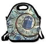 Kailey hello Doctor Who Box Lunch Bag Tote Handbag