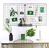 "Rumcent Multifunction Metal Mesh Grid Panel,Wall Decor/Photo Wall/Wall Art Display & Organizer,Pack of 2 Pcs,Size:23.6"" x 23.6"",Square Black"