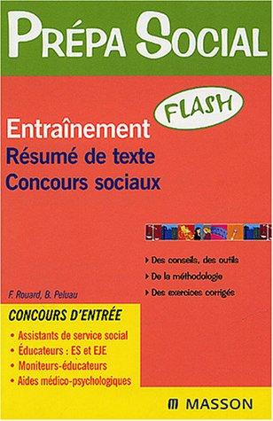 Entraînement Résumé de texte Concours sociaux