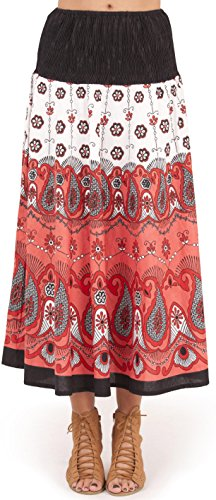 Pistachio - Femmes - Robe ou jupe mi-longue 2 en 1 motif floral pois été vacances - Noir, S - 36-38 NOIR CACHEMIRE 2