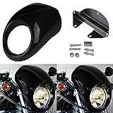 Ridgeyard Scheinwerfer Verkleidung Motorhaube Maske Visier Abdeckung für FX XL Harley Davidson Dyna Sportster Visier
