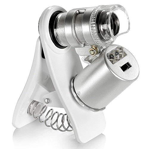 60X Zoom LED Clip On Mikroskop Vergrößerungslinse Für Universal-Mobiltelefone/Iphone Samsung HTC Blackberry Nokia Sony