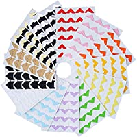 BOSSTER Photo Corner 13 sheets Multi-color Paper Corner Stickers Self Adhesive for DIY Scrapbooking Picture Album
