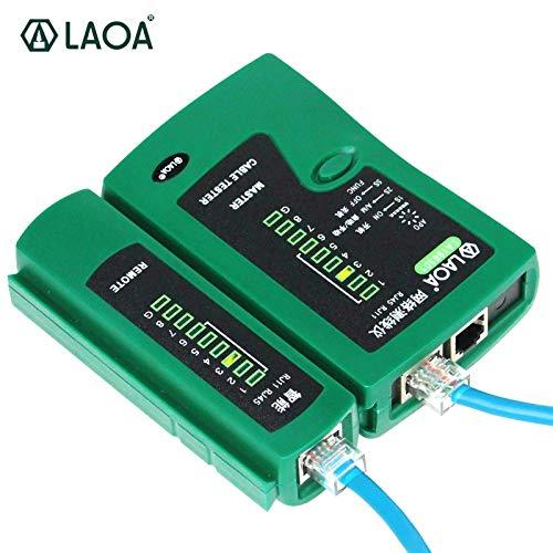 Bureze LAOA Netzwerkkabeltester Multifunktions-Hand- und Automatik-Typ-Netzwerkanalysator RJ45 RJ11 ohne Batterie (It-netzwerk-tool-kit)