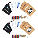 Cpano 20 Wand Decor Papier zum Aufhängen Foto Film Rahmen für Fujifilm Instax Mini 8/7S 8 + 9 25 26 50s 90 Polaroid Filme & Name Card (schwarz / weiß / braun)
