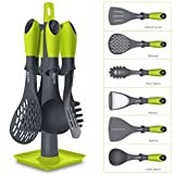 #10: Home Puff Nylon Cooking & Serving Tools with Carousel Holder,6-Pieces