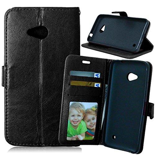 Nancen Compatible with Handyhülle Nokia Microsoft Lumia 640 / N640 (5,0 Zoll) Lederhülle Style Acht Farbe Weich PU Flip Case Ledertasche/Schutz Etui, Karten Slot Foto Wallet Hülle