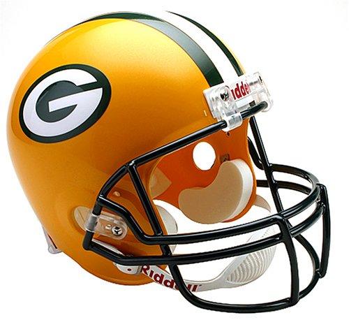 Cardinals Deluxe Replica Fußballhelm, Damen Unisex-Kinder Unisex-Erwachsene Herren, Deluxe Replica Football Helmet, Green Bay Packers, Full Size ()