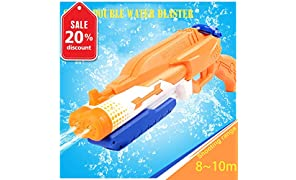 Addmos Water Pistol Up to 10m Away Super Water Gun Soaker 1.2L Tank Double Power Up Outdoor Water Fighting Toy Kids Adults