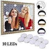 Kapmore 10 Spiegel-Lichter mit Sprachsteuerung und 3 Farbtönen - LED Spiegelleuchte mit USB Netzteil - Premium Hollywood Beleuchtung für den Schminkspiegel - Schminklicht
