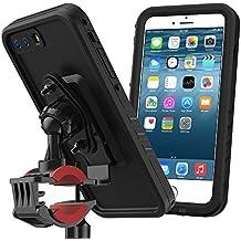 iPhone–Carcasa bicicleta Mount etanche, yuqoka bicicleta Rack manillar moto Soporte 360° rotación roturas, color negro, tamaño iPhone 7 Plus