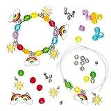 """Bettelarmband-Bastelsets """"Regenbogen"""" für Kinder zum Basteln und als tolle Accessoires (3 Stück)"""