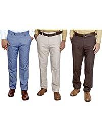 Indistar Combo Offer Mens Formal Trouser (Pack Of 3) - B01JRQZE3U