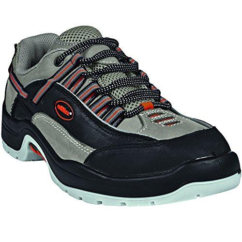 ruNNex 5202–49Sicherheit Schuhe, Team Star, S2, Größe 49, Schwarz/Grau/Orange (Team Orange Schuhe)