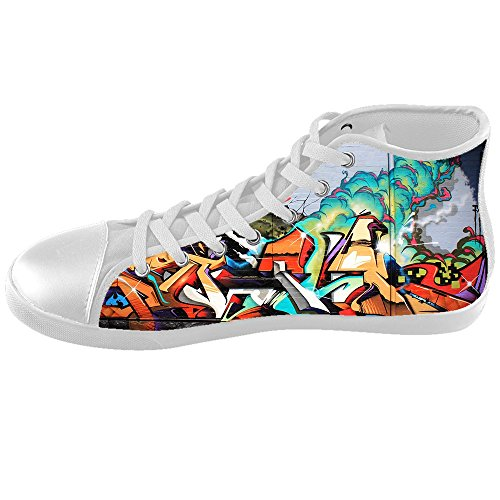 Custom Graffiti Kids Canvas Shoes Chaussures Footwear Sneakers Shoes Chaussures D