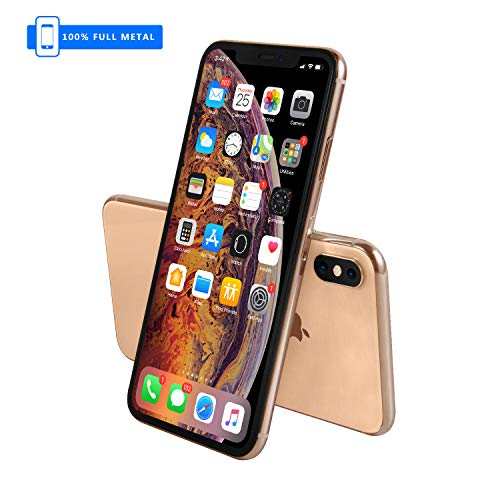 Attrappe für Apple iPhone (Nicht funktionierend), Vollmetall, Maßstab 1:1, XS, max. 6,5 Zoll, Gold Menu Screen