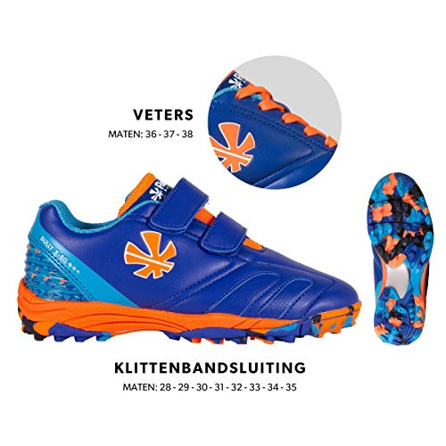 Reece Bully X80 Outdoor Hockey Schuhe mit blau-orange Kinder royal-orange, 37