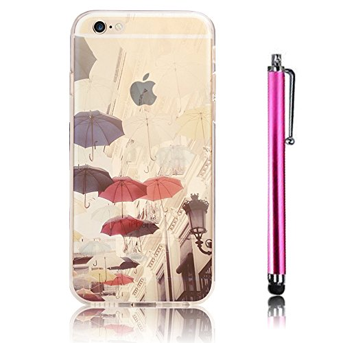 iPhone 6S Case (4.7) , iPhone 6 Custodia,Ultra Slim Thin Crystal TPU Paesaggio Morbido Bumper Case + Stylus Screen Touch Pen – Gully model 10